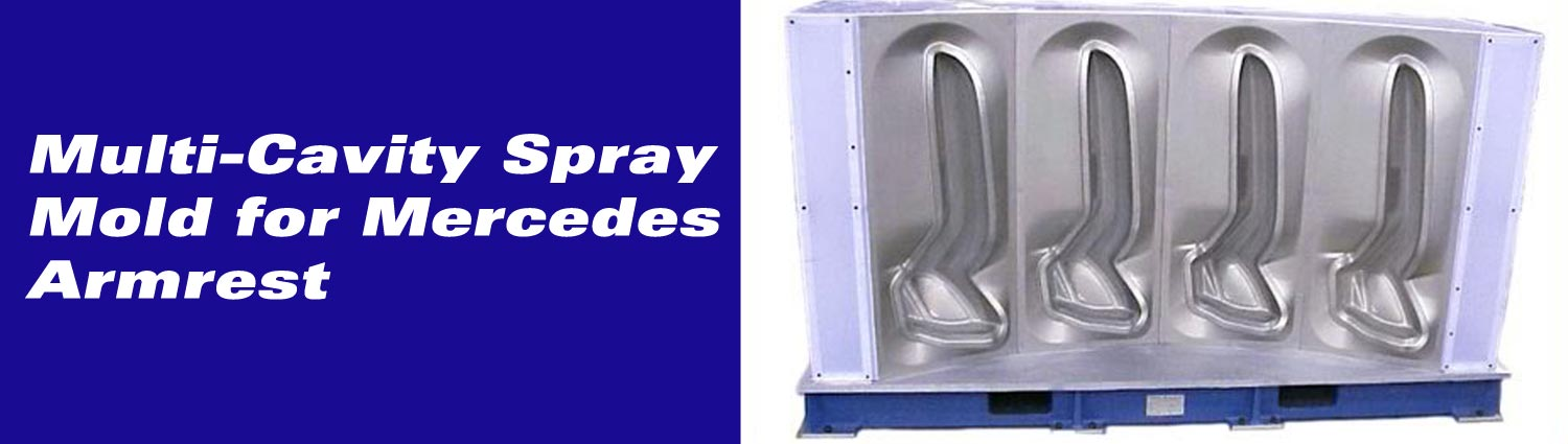 Multi-Cavity Spray Mold for Mercedes Armrest