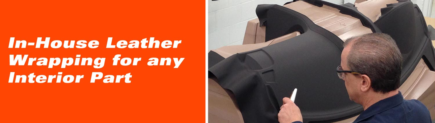 In-House Leather Wrapping for any Interior Part